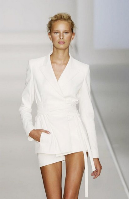 White Outfit for 2014, Catwalk Pantsuits of White Obession