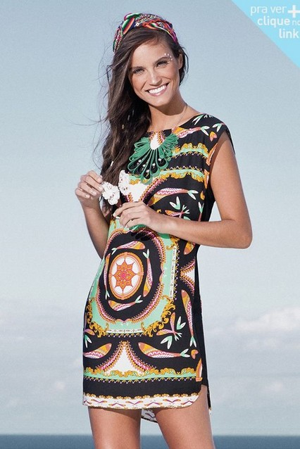 Quirky Print Style for Spring 2014: Aztec print shift dress