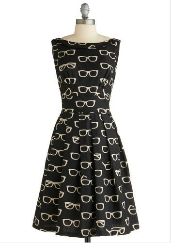 Quirky Print Style for Spring 2014: mini print cocktail dress