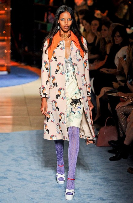 Quirky Print Style for Spring 2014: animal print coat