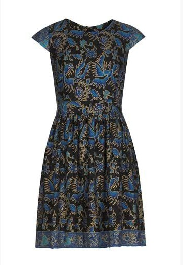 Quirky Print Style for Spring 2014: trible print evening dress