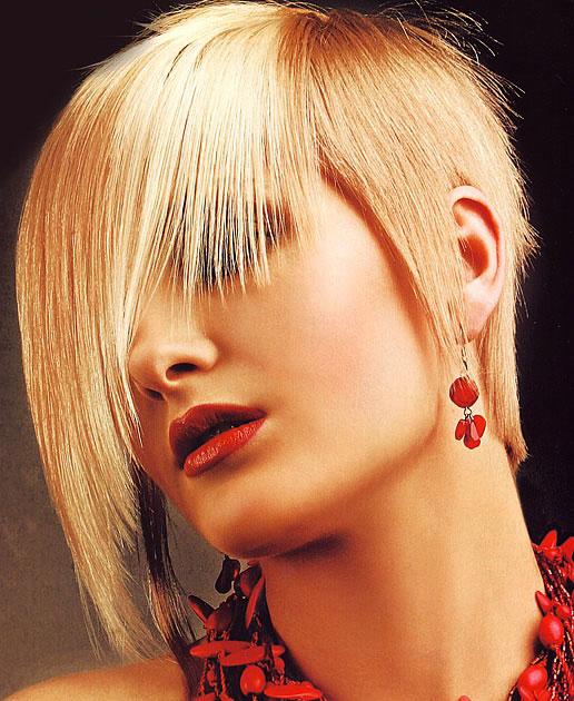 Short Straight Haircut Wispy Bangs