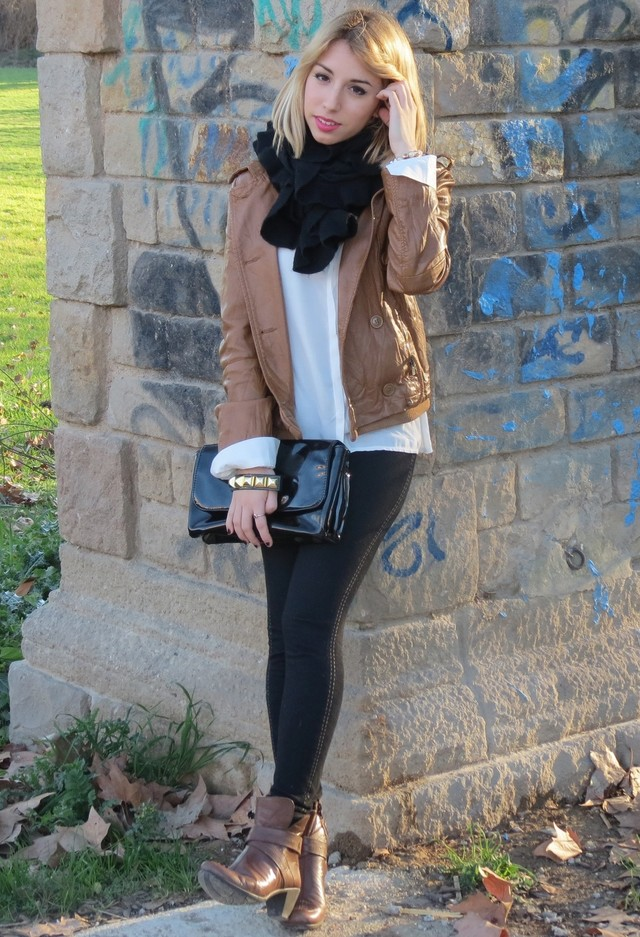 14 Ways to Wear Your Brown Jacket - Pretty Designs