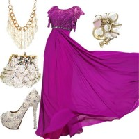 15 Polyvore Combinations for Graceful Ladies: Plum Diva