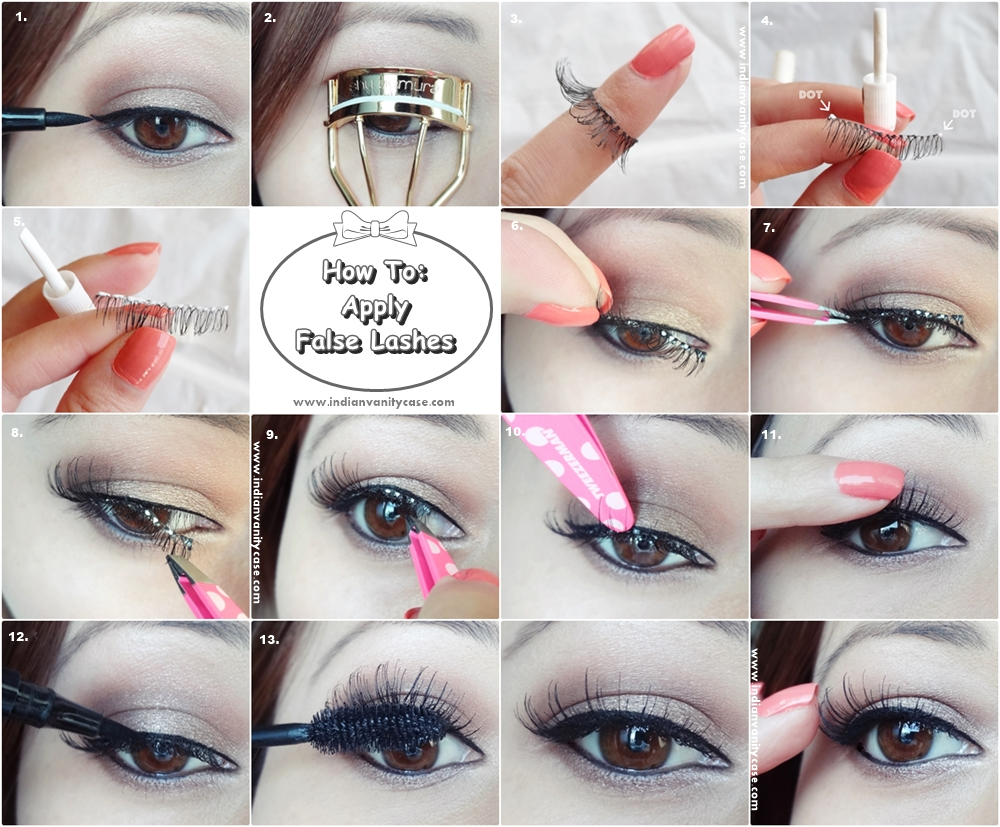 3 Simple Steps To Apply False Lashes Perfectly Pretty Designs