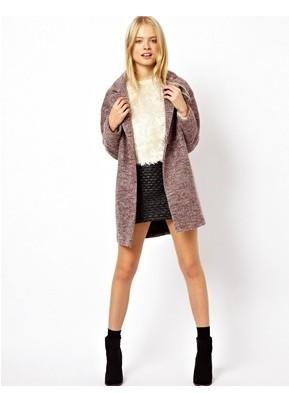 ASOS Wrap Cocoon Coat, Pink