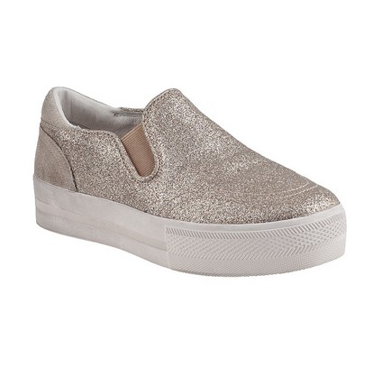 Ash JUNGLE BIS SLIP-ON PLATINE GLITTER, Gold
