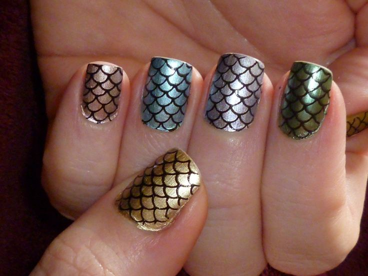 16 amazing fish scale nail ideas pretty designs beautiful nails prinsesfo Choice Image