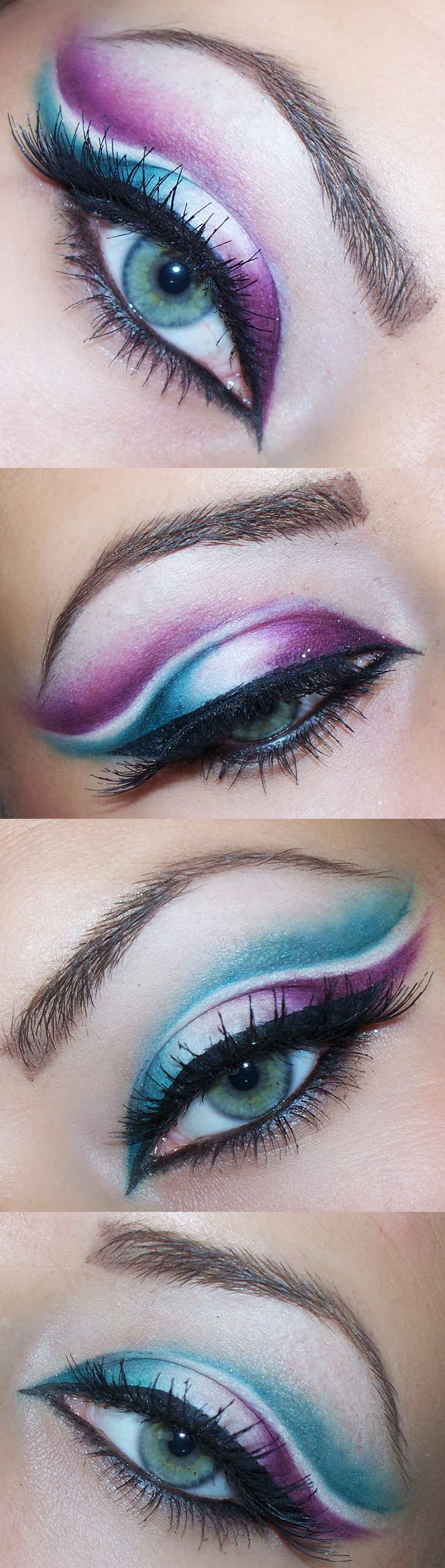 Best Eye Makeup Ideas for Blue Eyes: Purple and Blue