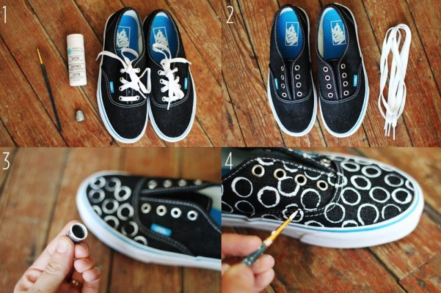 Black Sneakers with Rings