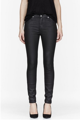 Blk Dnm Super Skinny in Black Wax for Weekend Outfit Idea