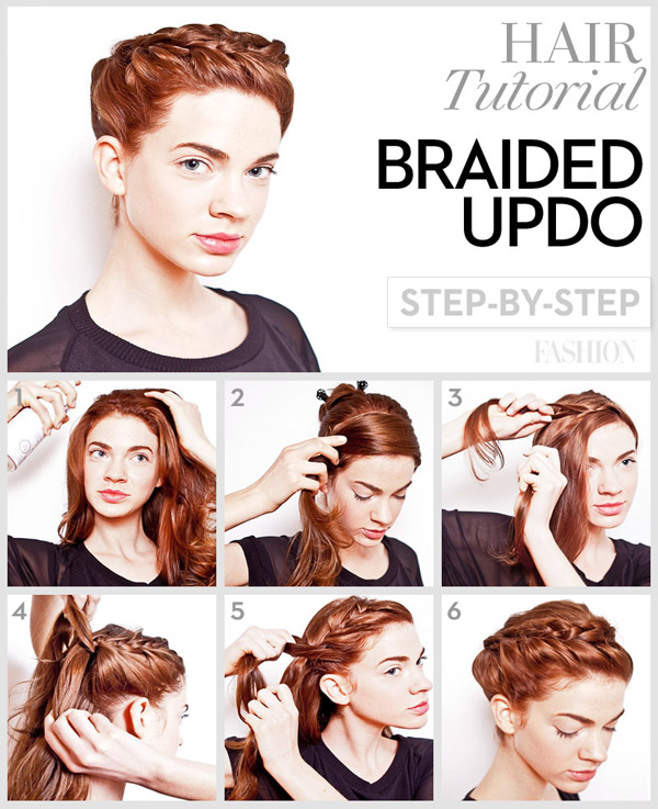 Fine Braided Updo Tutorial Long Hair Braids Hairstyle Inspiration Daily Dogsangcom
