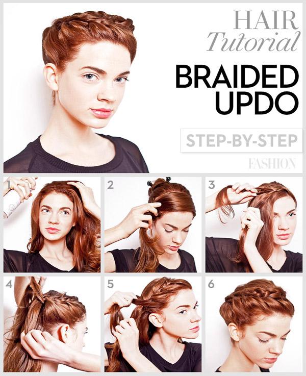 Fabulous Braided Updo Tutorial Long Hair Braids Short Hairstyles For Black Women Fulllsitofus