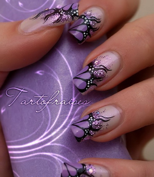 Nail designs purple beautify themselves with sweet nails 16 stylish nail art ideas for next party pretty designs prinsesfo Images