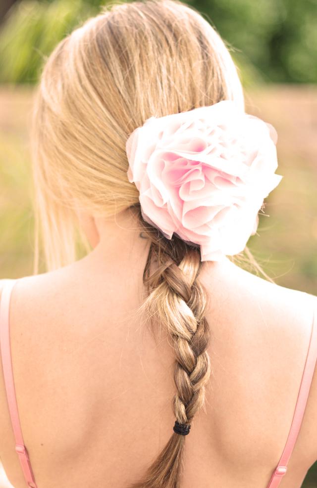 Chiffon Floral Clip