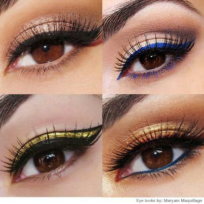 Colorful Eyeliners: Copper Tone