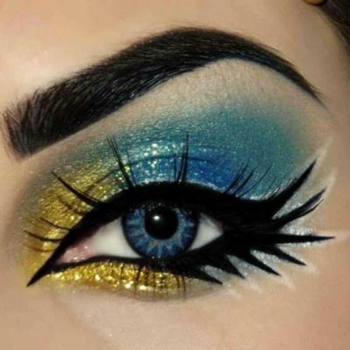 Colorful Eyeliners: Gold Eyeliners