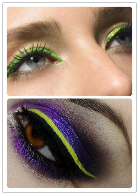 Colorful Eyeliners: Green Eyeliners