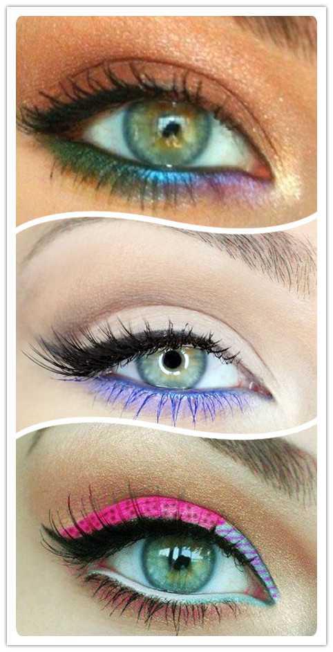Colorful Eyeliners: Mixed Colors
