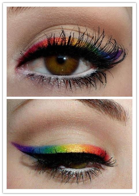 Colorful Eyeliners: Rainbow Eyeliners