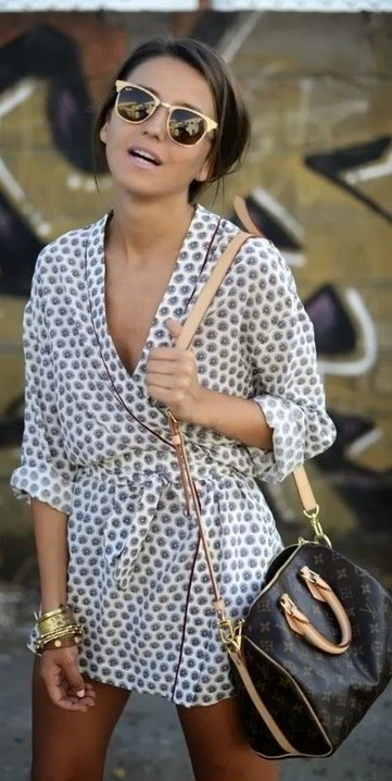 Cute animal print little wrap dress & sunnies