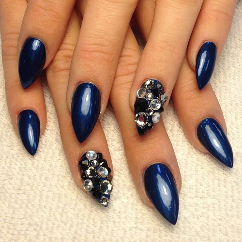 Deep Blue Nails
