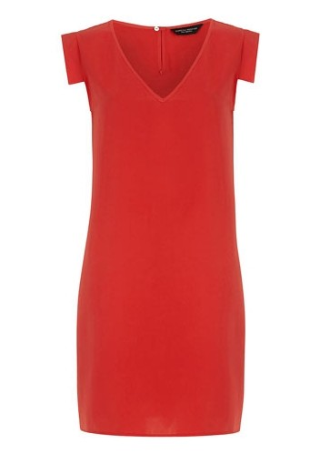 Dorothy Perkins casual shift dress in a persimmon shade of orange