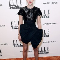 Emma Watson's Shimmery Bow Dress by Giambattista Valli Haute Couture at Elle Style Awards