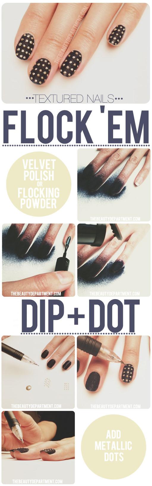 Golden Dot Nails