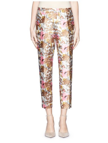 J. CREW Floral Brocade Trouser