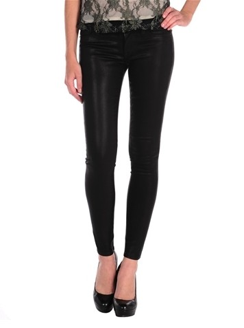 Krista Super Skinny in Black Wax for Weekend Outfit Idea