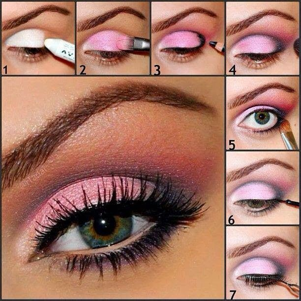 Lovely Pink Eye Makeup Tutorials