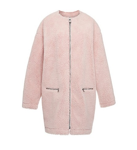 MSGM Faux shearling coat, pink