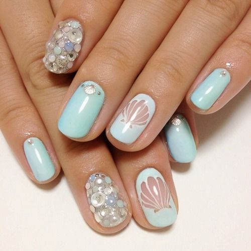 Mermaid Nails - 15 Ocean Nail Arts - Pretty Designs