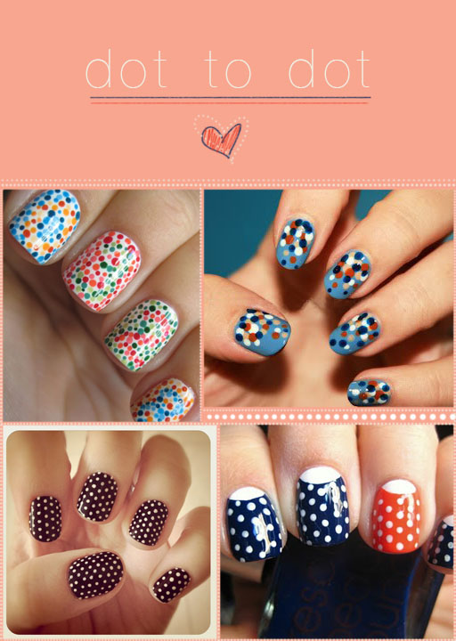 Nails with Funny Dots