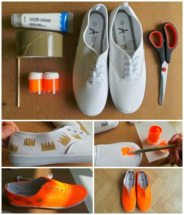 Neon Orange Sneakers