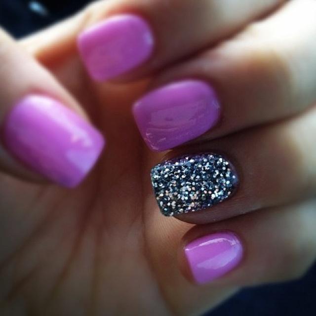 Гель лак розовый с блестками дизайн