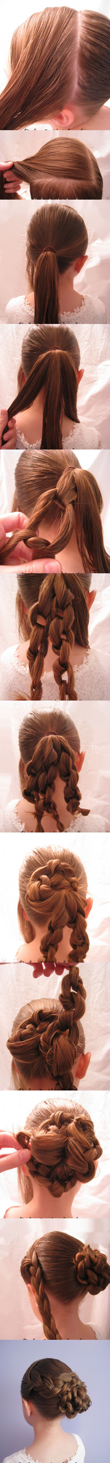 Oh-So-Simple Bun Hairstyles Tutorials: Braided Knotted Bun