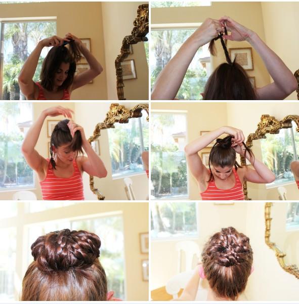 Oh-So-Simple Bun Hairstyles Tutorials: Braided Top Bun