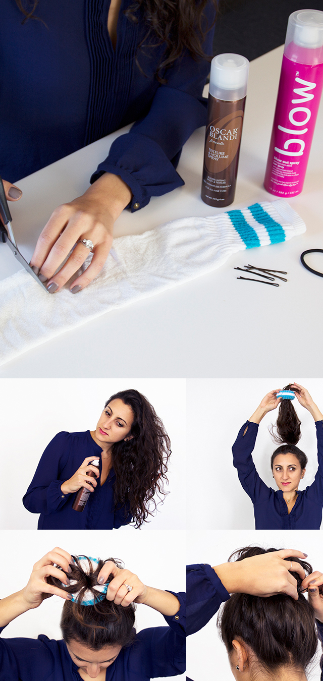 Oh-So-Simple Bun Hairstyles Tutorials: Cute Sock Bun