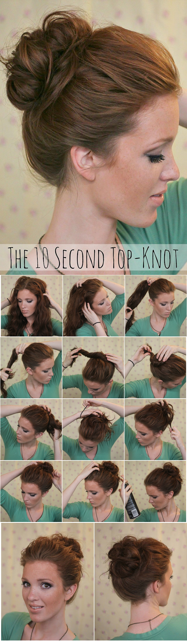Oh-So-Simple Bun Hairstyles Tutorials: Loose Hair Knot