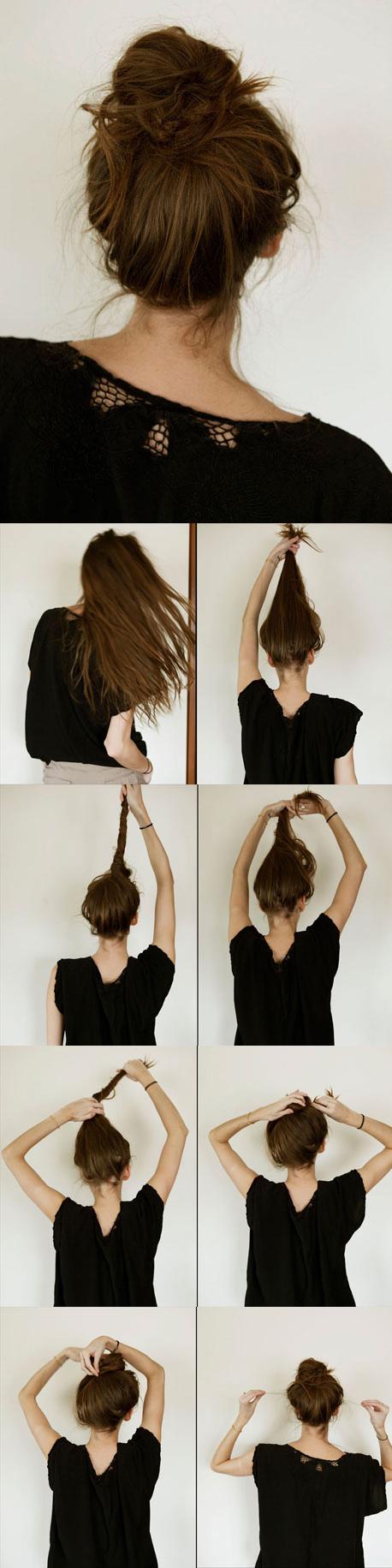 Super 13 Rather Simple Bun Hairstyles Tutorials For 2014 Pretty Designs Short Hairstyles Gunalazisus