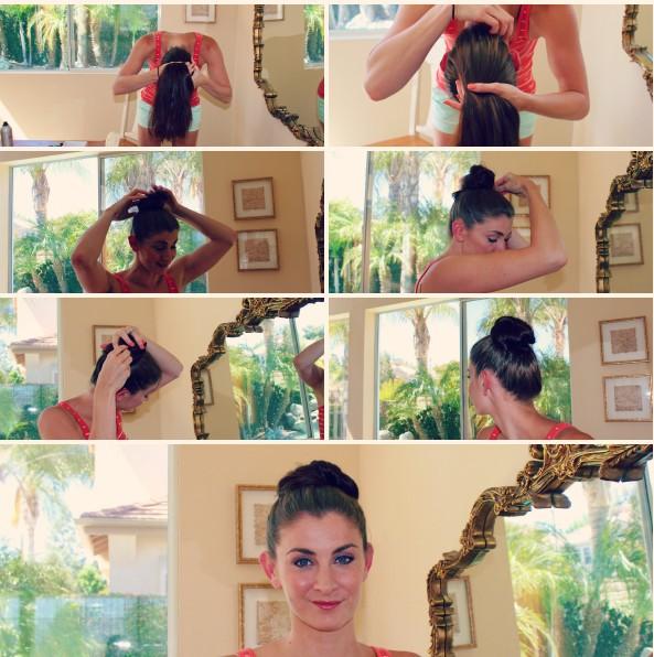 Oh-So-Simple Bun Hairstyles Tutorials: Sleek Hair Knot
