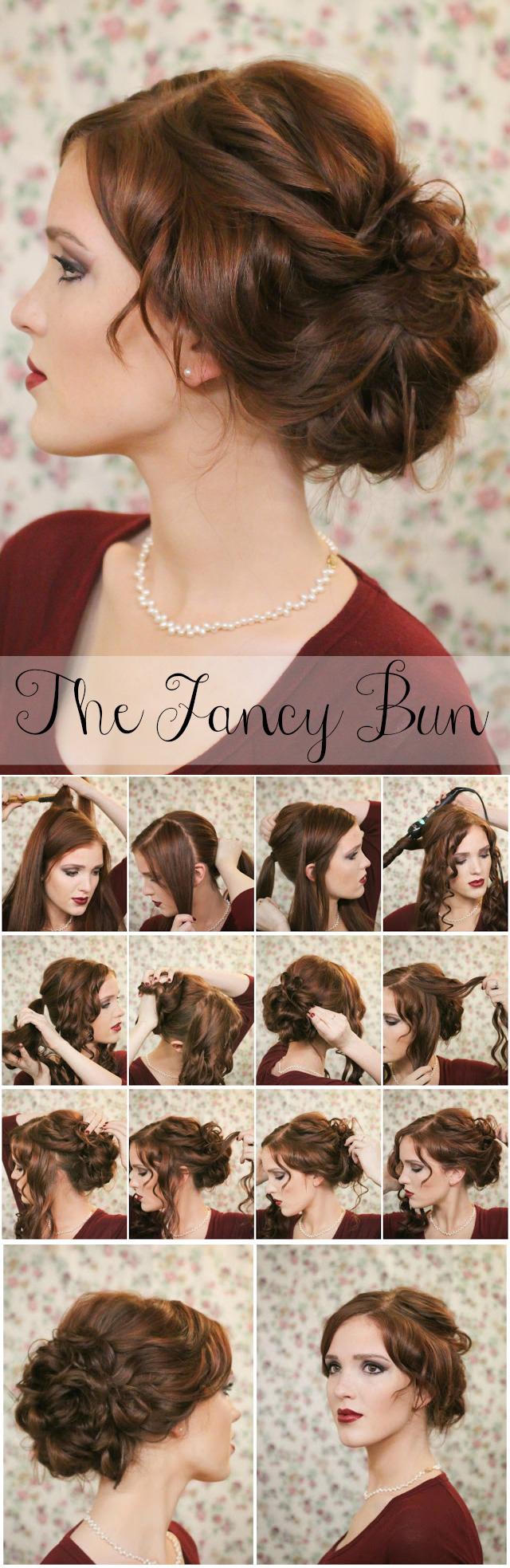 Oh-So-Simple Bun Hairstyles Tutorials: The Fancy Bun