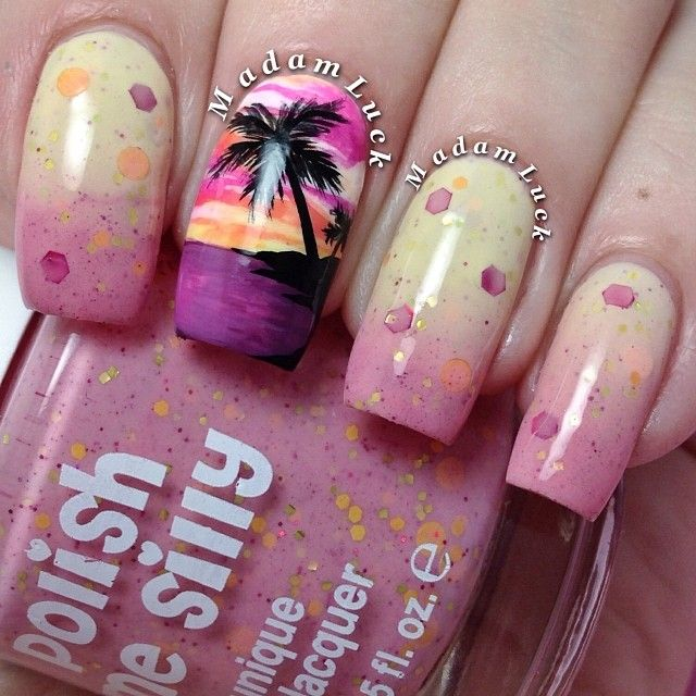 Pink Sands - 15 Ocean Nail Arts - Pretty Designs