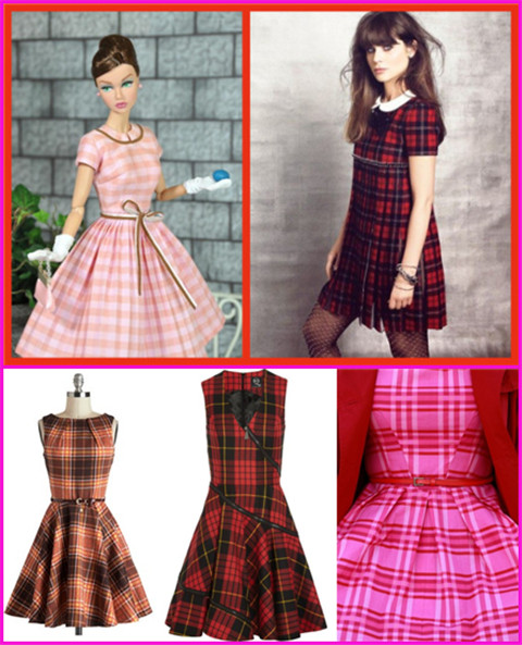 Fashionable and Adorable Barbie-inspired Dresses for Women: Plaid Dresses