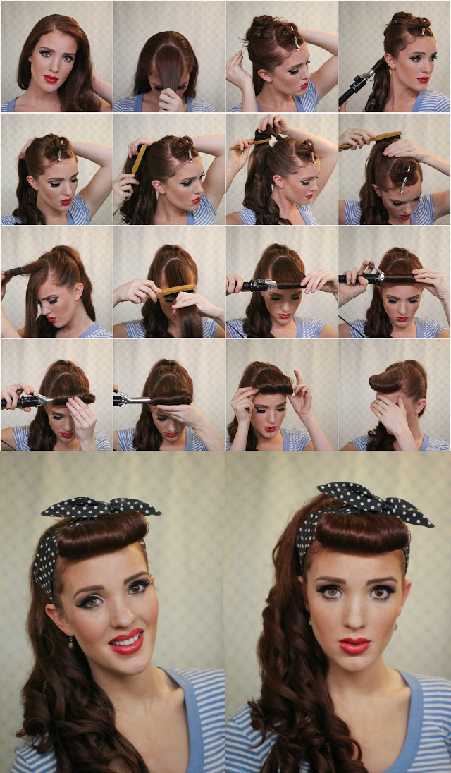 how to curl your hair 50s style 17 ways to make the vintage hairstyles pretty designs 3135