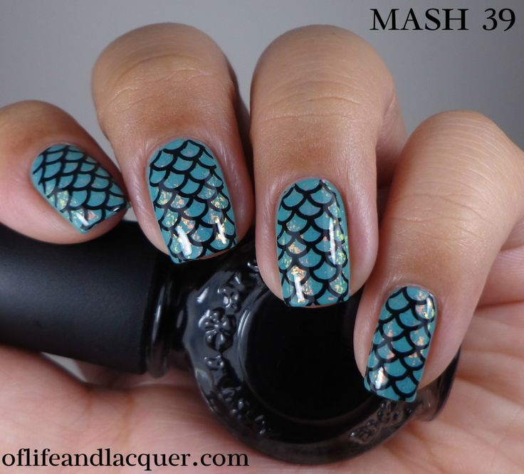 16 Amazing Fish Scale Nail Ideas - Pretty Designs