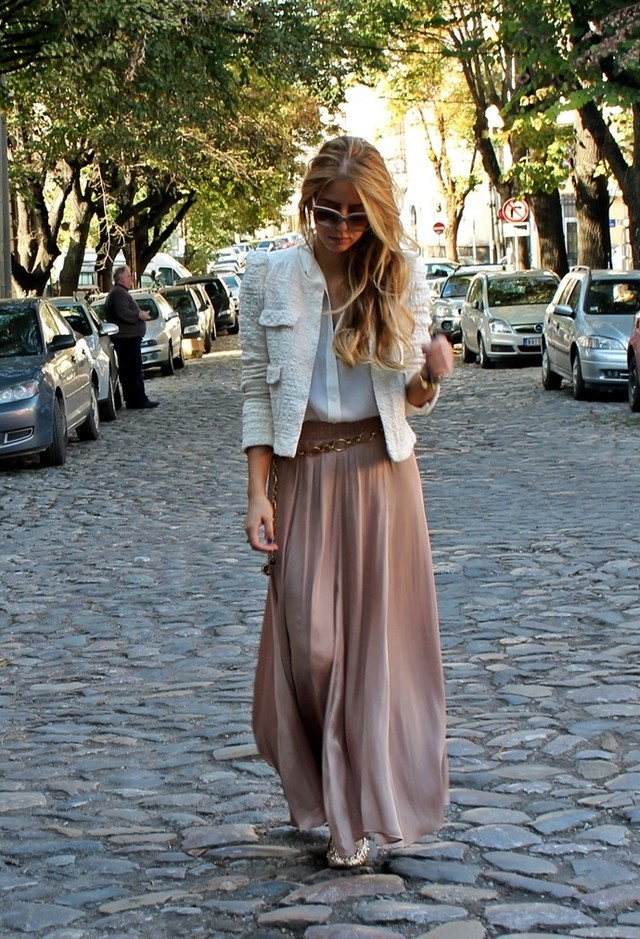 Pretty Long Skirts for a Feminine Look in Spring - Pretty Designs