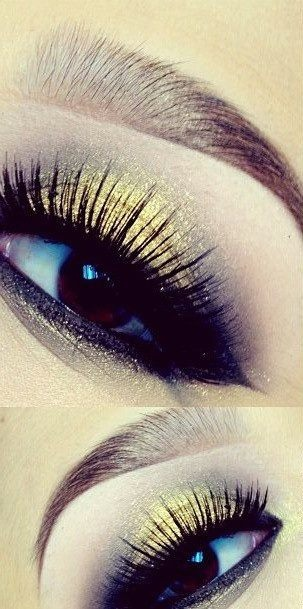 Shimmer Makeup Ideas: Gold and Black